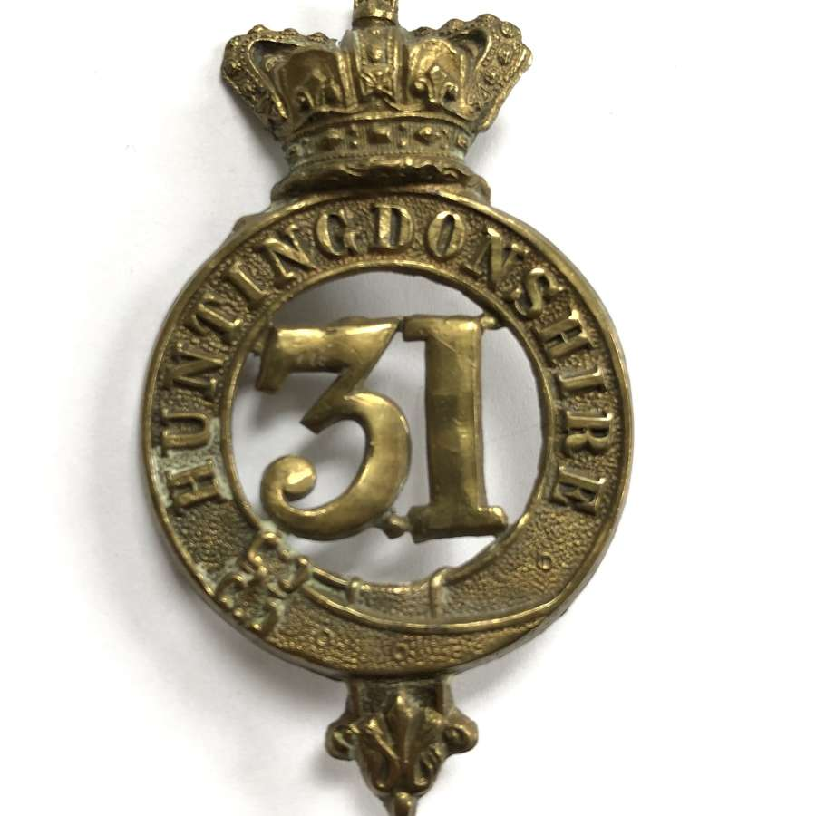 31st (Huntingdonshire) Foot Victorian glengarry badge
