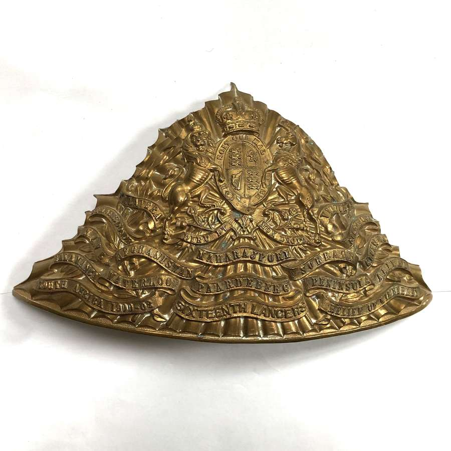 16th Queen's Royal Lancers OR's lance cap plate circa 1905-14