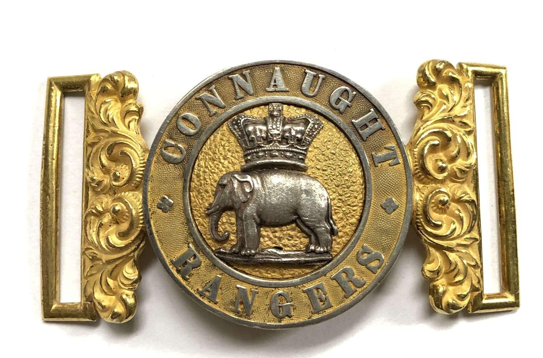 Irish. Connaught Rangers Officer's Victorian waist belt clasp