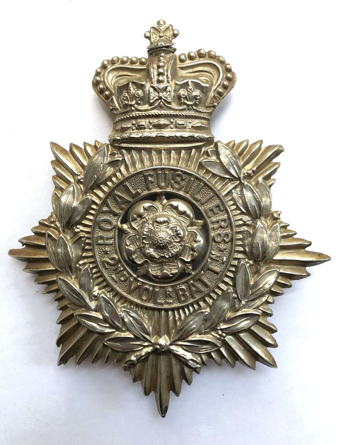 2nd VB Royal Fusiliers Victorian post 1883 helmet plate