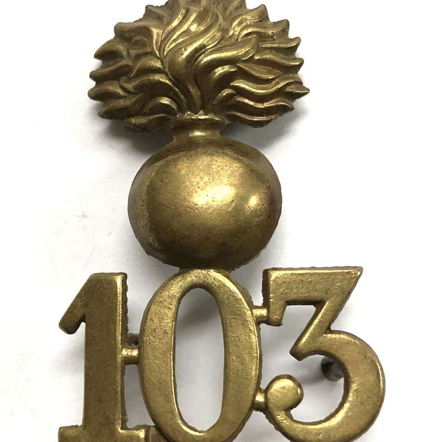 103rd Royal Bombay Fusiliers OR's glengarry badge circa 1874-81
