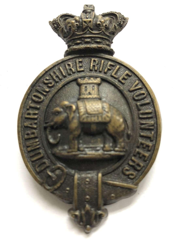 Dumbartonshire Rifle Volunteers Victorian shako plate circa 1860-64