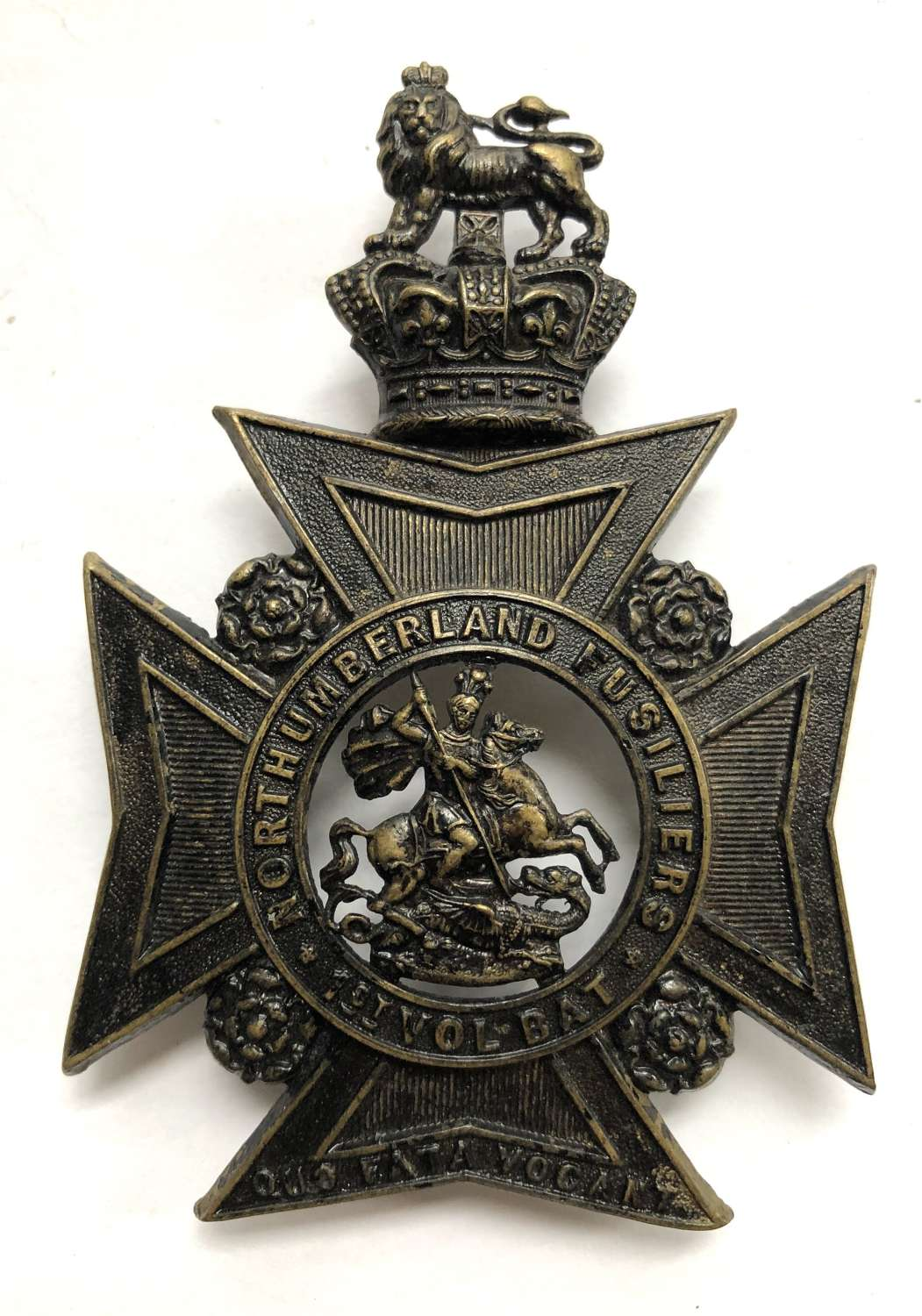 1st (Hexham) VB Northumberland Fusiliers Victorian OR's helmet plate