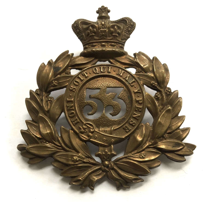 53rd (Shropshire) Regiment of Foot Victorian shako plate c1869-788