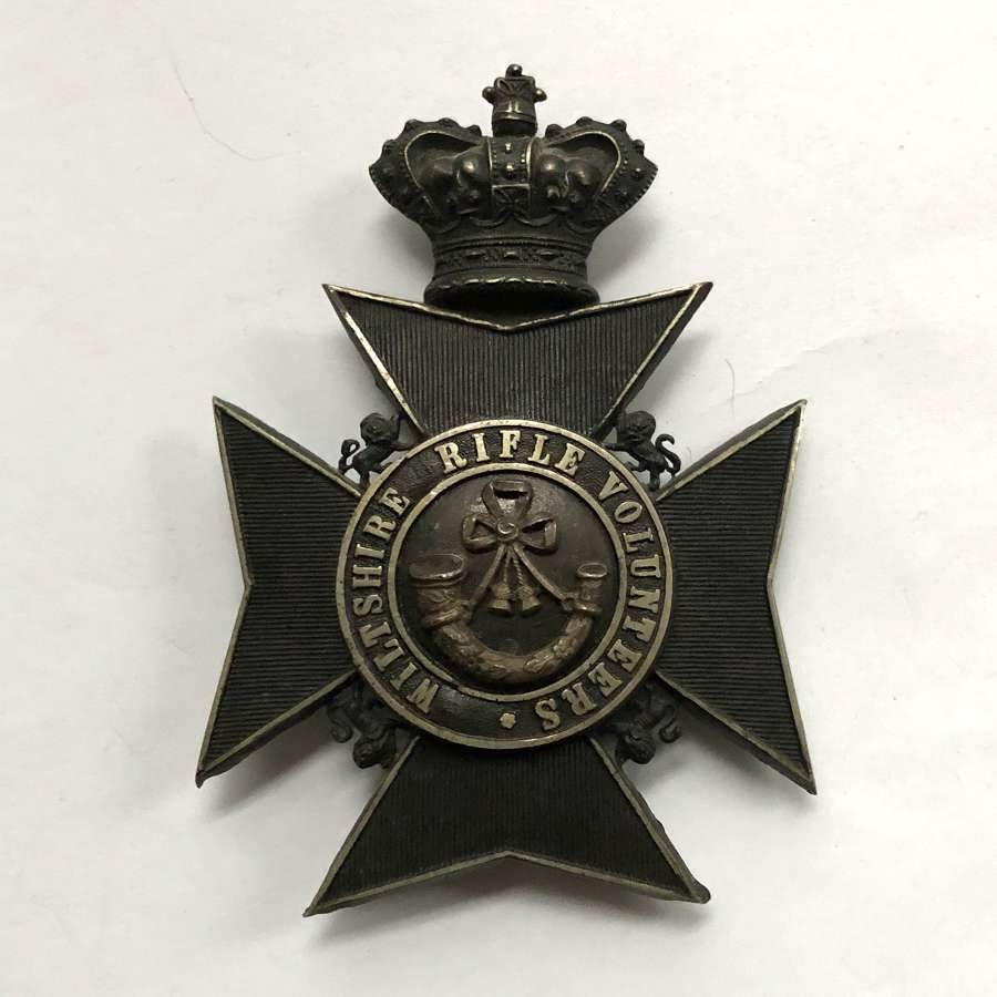 Wiltshire Rifle Volunteers Victorian Officer's helmet plate