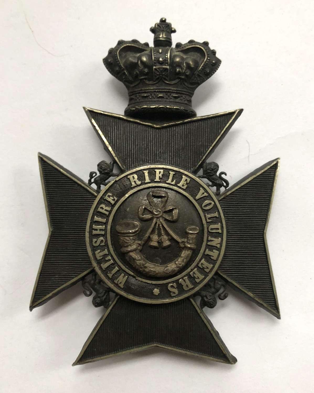 Wiltshire Rifle Volunteers Victorian Officer's helmet plate