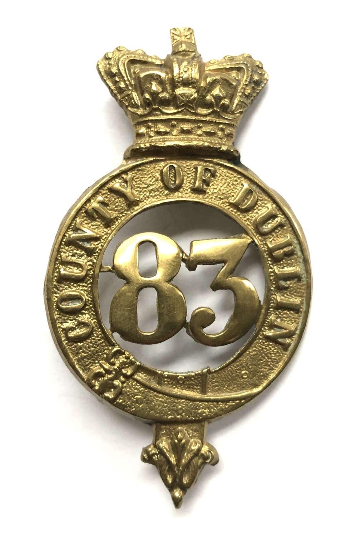 83rd (County of Dublin) Regiment, OR's glengarry badge c1874-81