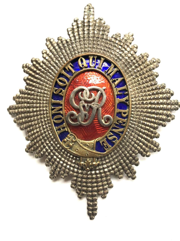 2nd Dragoon Guards (Queen's Bays) Officer's helmet plate