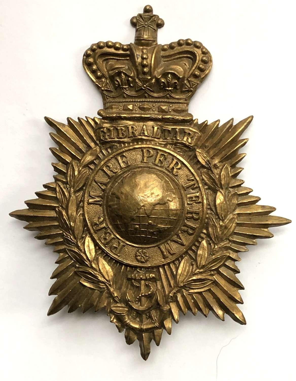 Royal Marine Light Infantry Victorian OR's helmet plate c1878-1901
