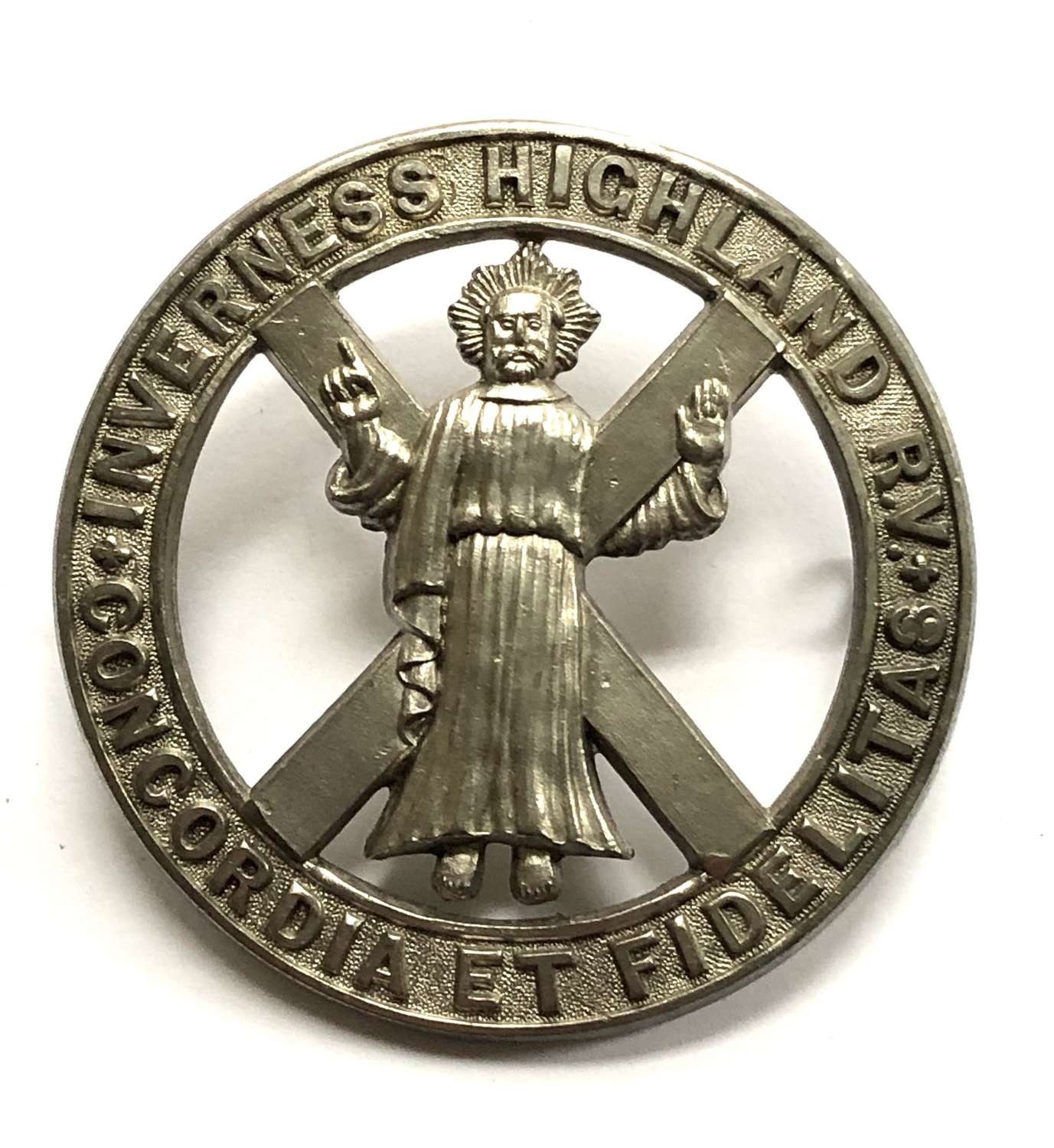 1st Inverness Highland Rifle Volunteers Victorian glengarry badge