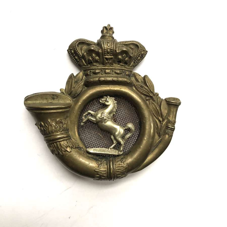 18th (Bromley) Kent Rifle Volunteer Corps Victorian shako plate c1860