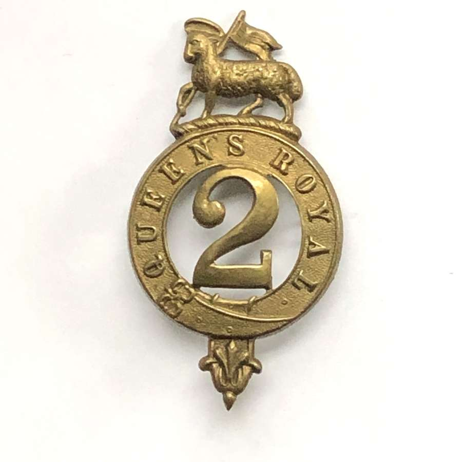 2nd Regiment of Foot Victorian glengarry badge circa 1874-81