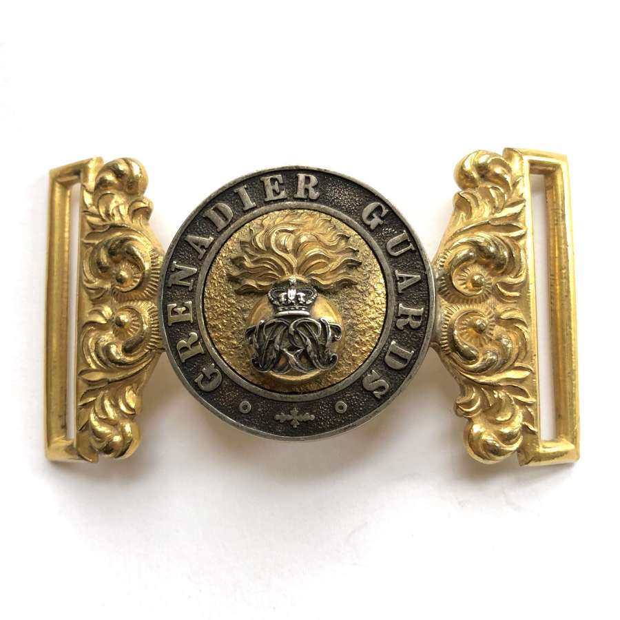 Grenadier Guards Officer's waist belt clasp circa 1856-1901