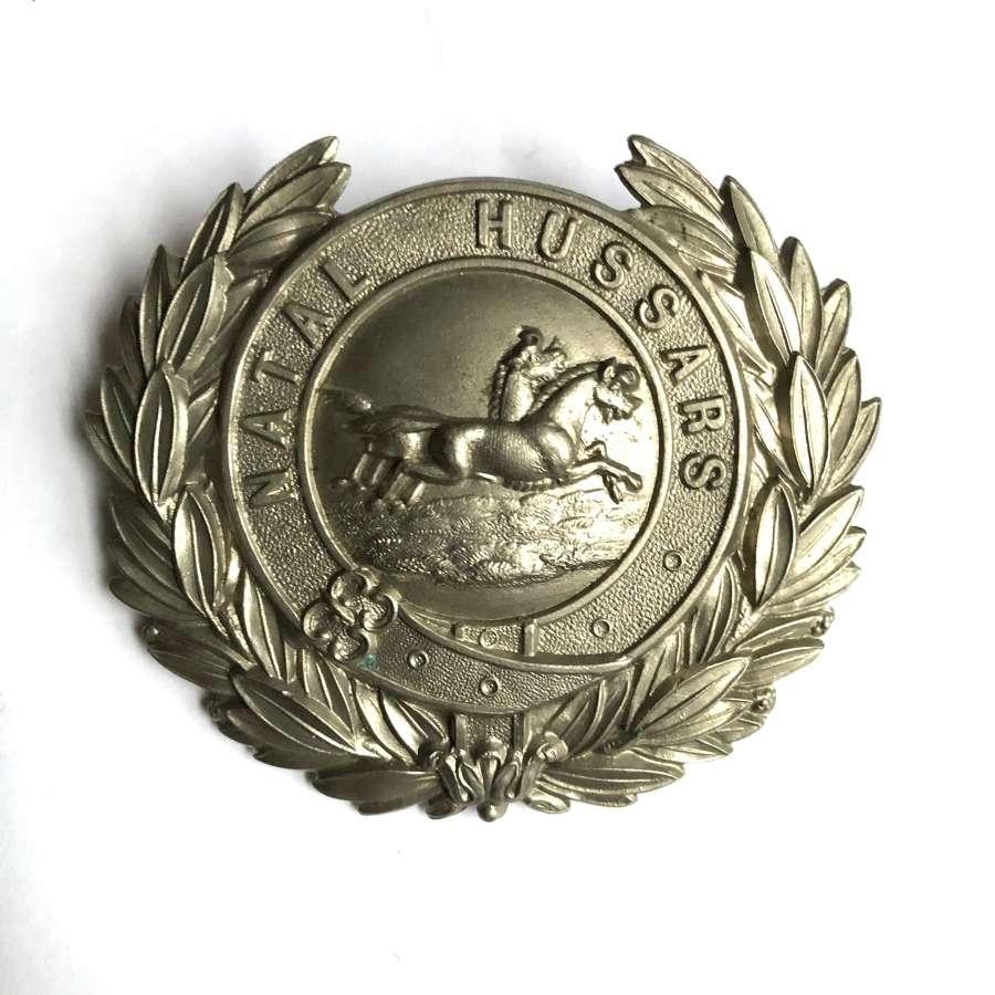South Africa. Natal Hussars Victorian pre 1887 helmet plate