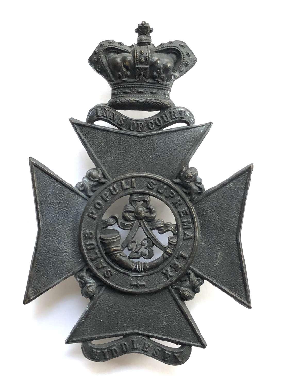 23rd Middlesex (Inns of Court) Rifle Vols Victorian helmet plate
