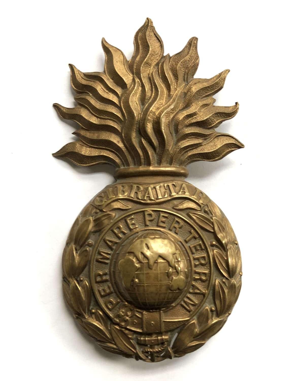 Royal Marine Artillery OR's helmet plate circa 1878-1905
