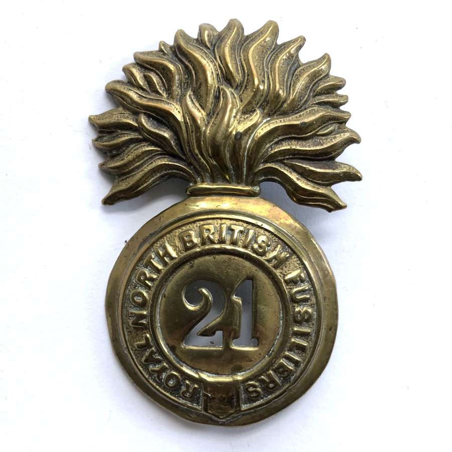 21st Foot (Royal North British Fusiliers) Victorian glengarry badge