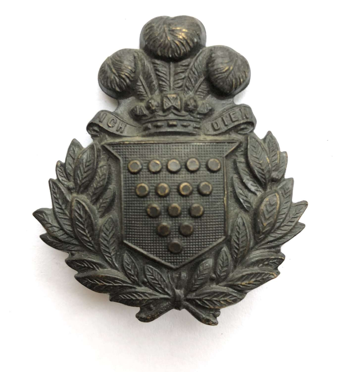 Cornwall Rifle Volunteers Victorian glengarry badge circa 1874-99