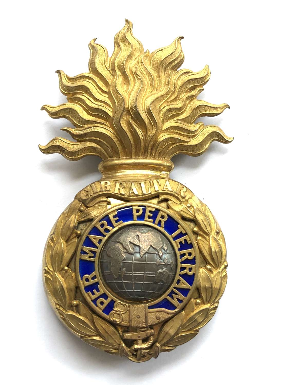 Royal Marine Artillery Officer's helmet plate circa 1879-1905
