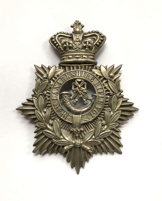 4th Lanarkshire Rifle Volunteers Victorian helmet plate c1878-87