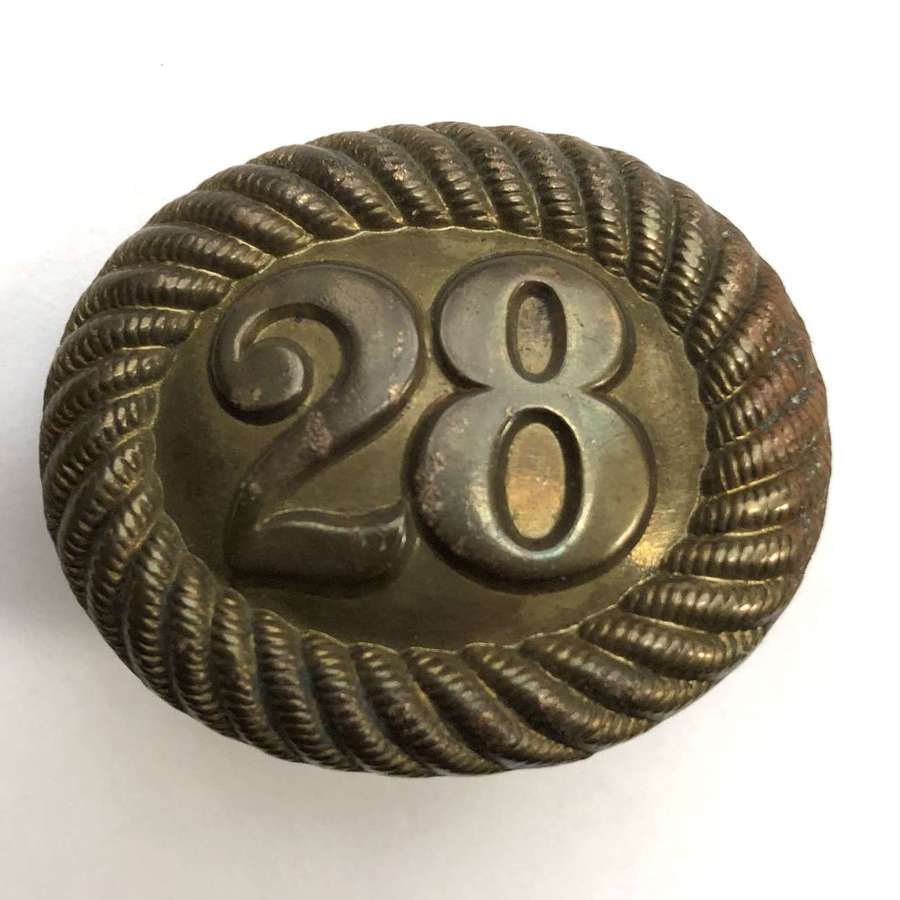 28th Foot (North Gloucester) Victorian pre 1881 shako back badge