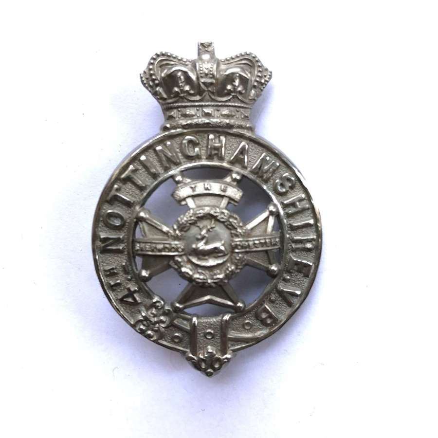 4th (Nottingham) VB Derbyshire Regiment Victorian glengarry badge