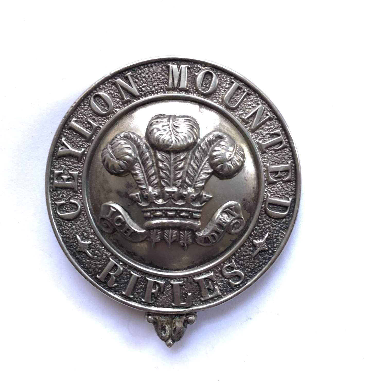 Prince of Wales's Ceylon Mounted Rifles badge.