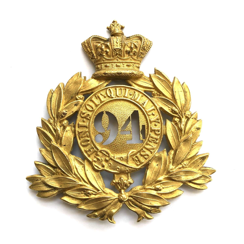Irish. 94th Regiment of Foot Victorian Officer's shako plate