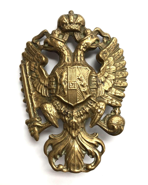 Imperial Austrian 1909 pattern Dragoon helmet plate