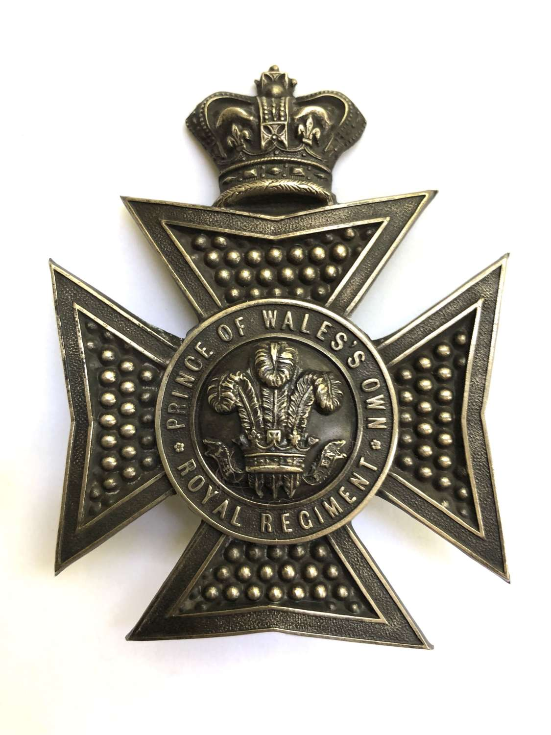 Royal Wiltshire Yeomanry Victorian Officer's shako plate c1861-75