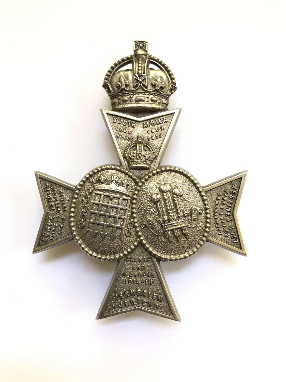 Queen's Westminster & Civil Service Rifles Officer's pouch belt pl