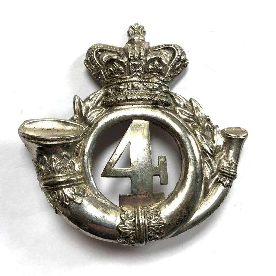 4th Lanarkshire Rifle Volunteers Vicorian Officer's shako plate