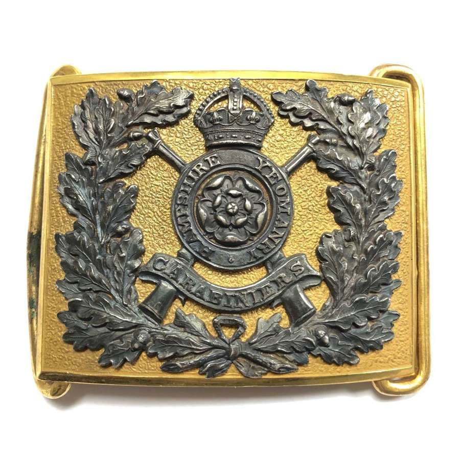 Hampshire Carabiniers Yeomanry Officer's waist belt plate c1908-14