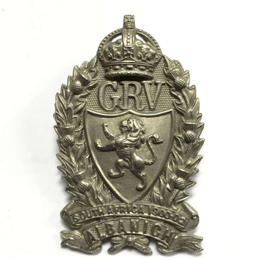 Galloway Rifle Volunteers glengarry badge circa 1905-08