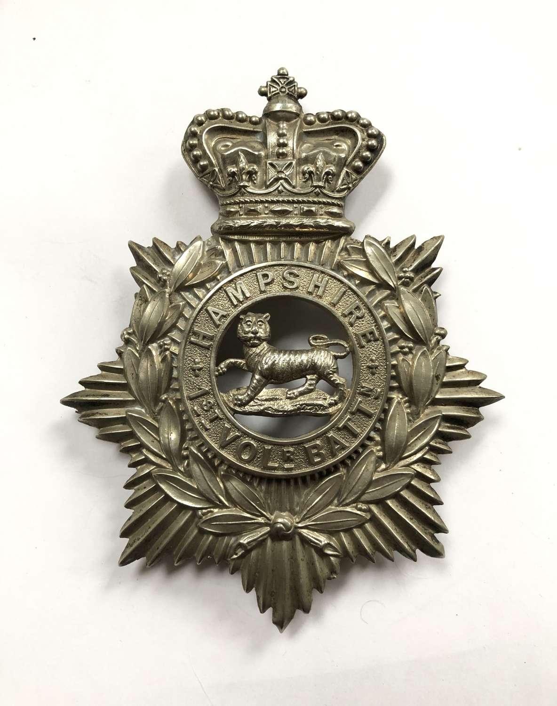 1st (Winchester) VB Hampshire Regiment Victorian helmet plate