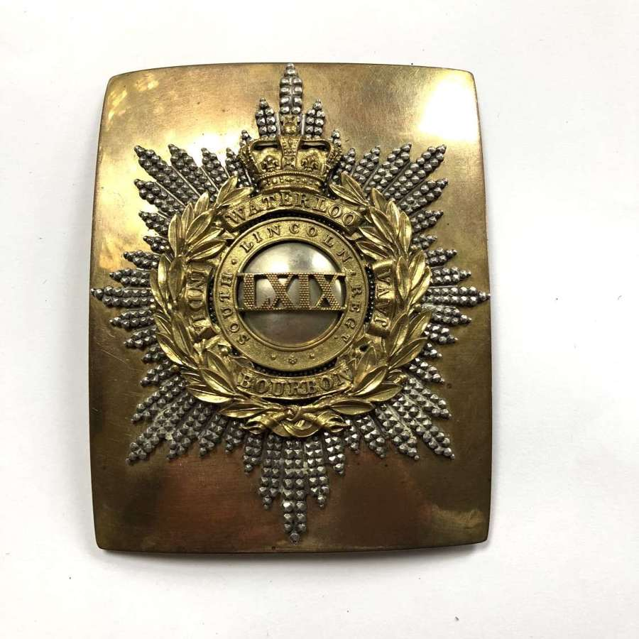 69th (South Lincolnshire) Foot Victorian Officer's shoulder belt plate