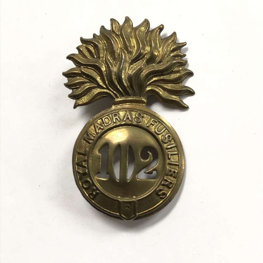 102nd Royal Madras Fusiliers Victorian glengarry badge c1874-81