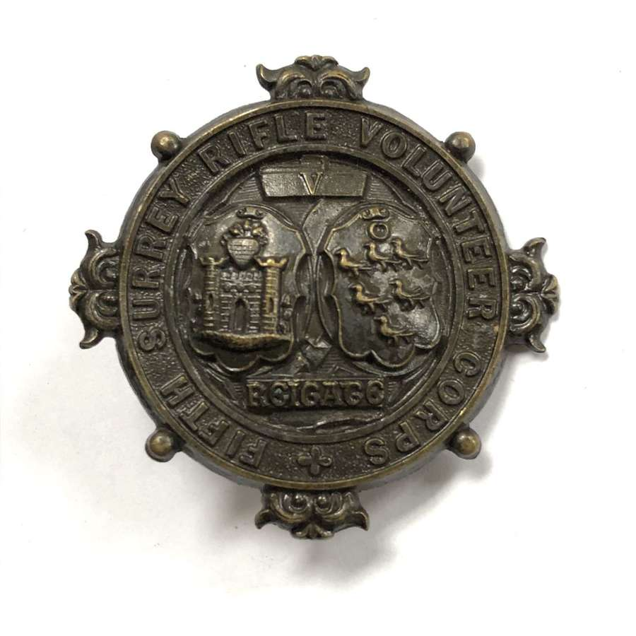 5th (Reigate) Surrey Rifle Volunteer Corps pouch belt plate C1859
